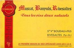 Buvard Ancien MUSCAT BANUYLS RIBESALTES - SOCIETE VVE BOUDAU ET FILS - Liqueur & Bière