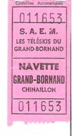 GRAND BORNAND   Navette Chinaillon - Bus