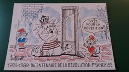 CPM ILLUSTRATEUR BARBEROUSSE IGNEE 1789 1989 BICENTENAIRE DE LA REVOLUTION FRANCAISE GUILLOTINE CHAT QUEUE COUPEE - Barberousse