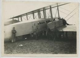 (Aviation) 32e RAO De Dijon . 1re Escadrille De Reconnaissance . Groupe Devant Un Avion . 1920-30 . - Aviation