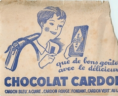 Buvard Ancien CHOCOLAT CARDON - Chocolat