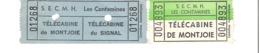 Télécabine Montjoie Les Contamines Lot De 2 Tickets - Tickets - Entradas