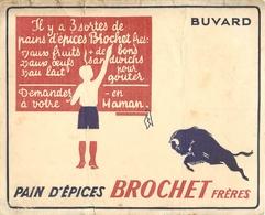 Buvard Ancien PAINS D EPICES BROCHET FRERES - Pain D'épices