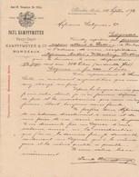 Allemagne Facture Lettre Illustrée 4 Pages 10/9/1892 Paul KAMPFFMEYER Vins BERLIN - Bordeaux... - Allemagne
