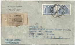 ARGENTINA BUENOS AIRES CC CERTIFICADA A NEW YORK 1948 SELLOS PALACIO DE CORREOS - Argentina