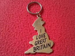 LLAVERO KEYRING KEYCHAIN PORTE-CLÉS I LOVE GREAT BRITAIN UK UNITED KINGDOM ENGLAND WALES SCOTLAND GRAN BRETAÑA VER FOTOS - Otras Colecciones