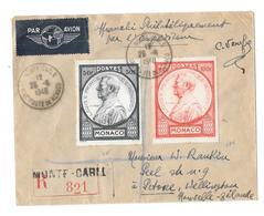 Principauté De Monaco « MONTE-CARLO » LSE Tarif P.A. « NLE ZELANDE » à 133F. (1.5.1948/30.11.1948) * LI 1er/20gr.) : 18f - Poste Aérienne