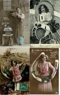 Lot Van 6 Fantasie Postkaarten - Hoefsmid Hoefijzer - Fer à Cheval - Cartes Postales