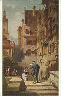 AK Gemälde Spitzweg Der Briefträger Color ~1920 #01 - Post & Briefboten