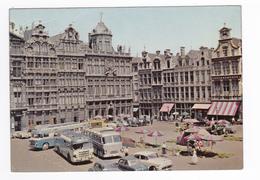 Bruxelles Brussel Grand Place En 1958 VOIR ZOOM BUS Car Autobus Anciens Voitures VW Käfer OPEL MG Cabriolet ? - Places, Squares