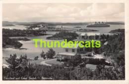 CPA CARTE DE PHOTO FAIRYLAND AND GREAT SOUND BERMUDA - Bermudes
