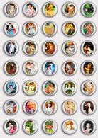 35 X Mary Cassatt Painting Fan ART BADGE BUTTON PIN SET 1 (1inch/25mm Diameter) - Badges