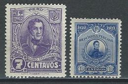 Peru Mi 187, 188, Sc 226, 227  * Mint Hinged - Perù