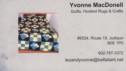 Yvonne MacDonell, Judique NS (VC498) - Visiting Cards