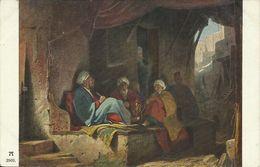 AK Gemälde Spitzweg Türken Im Kaffeehause Color 1918 #03 - Asie