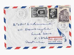 Principauté De Monaco « MONTE-CARLO » LSE Tarif P.A. « AUSTRALIE » à 95F. (1.5.1951/30.6.1957) - Poste Aérienne