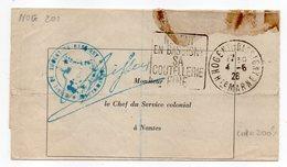 """1926--Lettre De NOGENT EN BASSIGNY-52 Pour NANTES-44-cachet Daguin""""Coutellerie Fine""""-Franchise Mairie-cachet-signature - Marcofilie (Brieven)"""