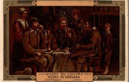 CHROMO MOKA LEROUX  MUSEE DU LOUVRE REPAS DE PAYSANS  ECOLE FRANCAISE LENAIN - Chromos