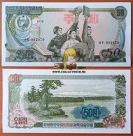North Korea DPRK 50 Won 1978 AUNC АЭ-21d - Korea, Noord