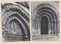 9AL6 ALNAY DE SAINTONGE EGLISE ROMANE TYMPAN PORTAIL Lot De 2 Cartes   2SCANS - Aulnay