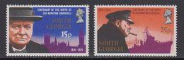 South Georgia 1974 Sir Winston Churchill 2v ** Mnh (41712) - Zuid-Georgia