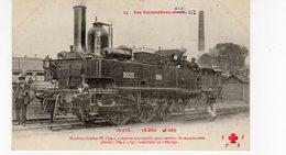 Les Locomotives (Etat)  Machine Tender N°1392 Pour Service De Manoeuvres Construite En 1869-75. - Trains