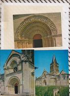 9AL7 ALNAY DE SAINTONGE EGLISE ROMANE TYMPAN PORTAIL Lot De 3 Cartes   2SCANS - Aulnay