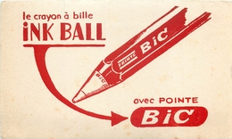 Buvard Ancien CRAYON ABILLE INK BALL - BIC - Stationeries (flat Articles)