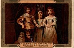CHROMO MOKA LEROUX  MUSEE DU LOUVRE ENFANTS DE CHARLES 1er   ECOLE FLAMANDE VAN DICK - Chromos