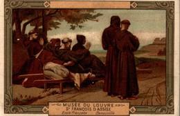 CHROMO MOKA LEROUX  MUSEE DU LOUVRE SAINT-FRANCOIS D'ASSISE  ECOLE FRANCAISE BENOUVILLE - Chromos