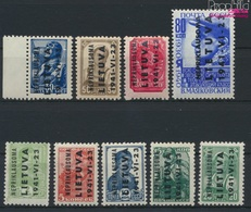 Litauen (Dt.Bes.2.WK.) 1-9 (kompl.Ausg.) Postfrisch 1941 Nepriklausoma (9265098 - Besetzungen 1938-45