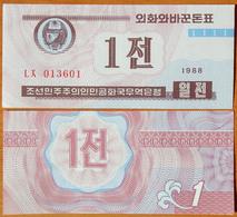 North Korea DPRK 1 Chon 1988 UNC Without W/m АЭ-23.2b - Corea Del Nord