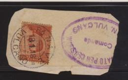 1918 R. NAVE/VULCANO C2 (18.1) Su Largo Frammento Affr Effigie A Destra C.20 - 1900-44 Vittorio Emanuele III
