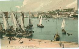 Cannes 1908; Le Port Et Le Mont Chevalier. Vue Prise Du Casino Municipal - Voyagé. (LL) - Cannes