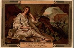 CHROMO MOKA LEROUX  MUSEE DU LOUVRE  MADELEINE  ECOLE FRANCAISE  NATTIER - Chromos