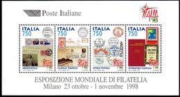 Italia Repubblica  1997 Foglietto 19 Esposizione Mondiale Di Filatelia - 6. 1946-.. Repubblica