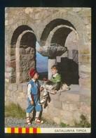 *Cataluña Típica. Festejant* Sin Datos Nº 4. Circulada Arbucies 1974, Edifil Nº 1935. - Escenas & Paisajes