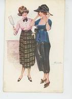 Illustrateur SUZ. MEUNIER - FEMMES - FRAU - LADY - MODE - Parisiennes à La Mode De 1918 - Meunier, S.