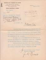 1944 R.S.I. Lettera Con Intestazione Presidenza Del Consiglio Dei Ministri Uff. Prov. Verona In Data 7.9 - 1900-44 Vittorio Emanuele III
