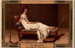 CHROMO MOKA LEROUX  MUSEE DU LOUVRE  Mme RECAMIER  ECOLE FRANCAISE  LOUIS DAVID - Chromos