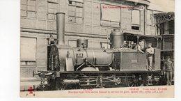 Les Locomotives (Etat)  Machine N°318 Type Très Ancien Faisant Le Service De Gare Année 1867. - Trains