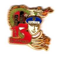 Pin's   Police Amicale  13 Olympiadeszamac Double Moule  Ballard - Armee