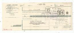 Lettre De Change , L'AIR LIQUIDE ,Paris,1938, Cachet Timbre 45 Cen., 2 Scans,  1938, Frais Fr 1.55 E - Bills Of Exchange