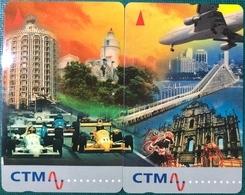 MACAU-CTM 1996 THE STORY OF MACAU PHONECARDS. ONE SET OF PHONE CARD INCLUDED-MACAU HIGHLIGHTS SET OF 2, UNUSED - Macao