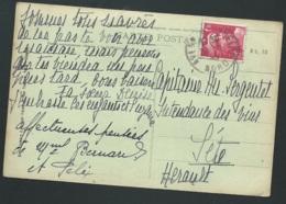 Gandon Yvert N° 712 AFFRANCHISSANT UNE CPA DE AVESNES  Le 29/06/1945   GAD 44 - 1945-54 Marianne De Gandon