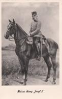 AK- Kaiser Franz Josef I. Hoch Zu Ross In Uniform - Historische Persönlichkeiten