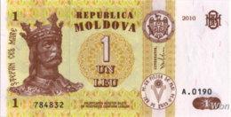 Moldavie 1 Leu (P8) 2010 -UNC- - Moldova