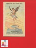 GUERIN BOUTRON Chromo Didactique MYTHOLOGIE CUPIDON Dieu Amour VENUS  ARC - Guérin-Boutron