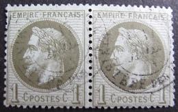DF50478/107BIS - NAPOLEON III Lauré (PAIRE) N°25 (dos Propre) - CàD Du MINISTERES DES FINANCES - 1863-1870 Napoleon III With Laurels