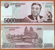 North Korea DPRK 5000 Won 2008 UNC АЭ-56a2 - Corea Del Nord